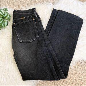 Wranglers | Vintage Black High Rise Mom Jeans